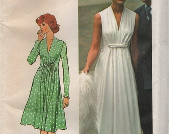 Einfachheit 6672 ätherischen Designer Mode Kleid Größe 12 Büste 34 Vintage 1970s 1974