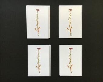 """Set of 4 Cards - """"Simplicity"""" Card Prints"""