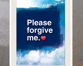 A3. Ho'oponopono healing Sentence poster. Meditation quote poster. Typography poster. Wall decor. Home decor. Please forgive me.(Po-A3-063)