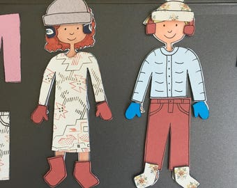 Winter PIPSQUEAKS by Pipsqueak: Magnetic Paper Dolls