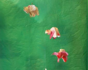 Origami Hand-folded Elephant Mobile
