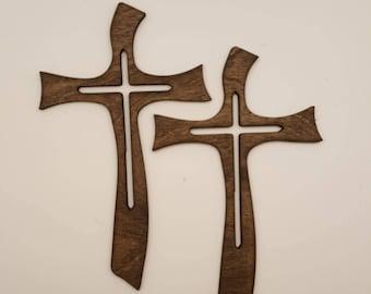 curvy laser cut wood cross
