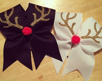 Rudolph Christmas cheer bow rudolph the red nose reindeer