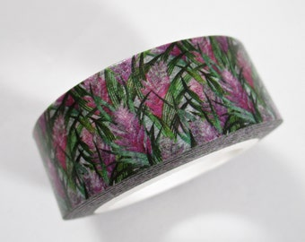 """CLEARANCE Pink Heliconia Hawaiian Floral Washi Tape by """"MechaKucha808-Tape""""  15mm x 10 meters"""