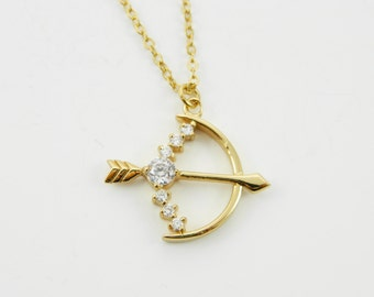 Gold Bow and Arrow Necklace - NC2011