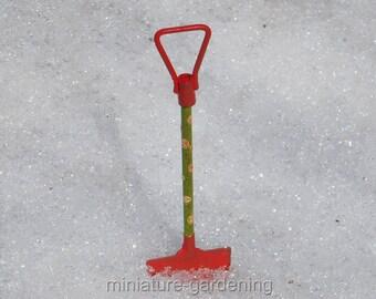 Polka Dot Snow Shovel for Miniature Garden, Fairy Garden