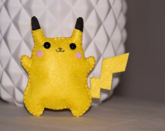 Mini Pikachu Pokemon plush felt