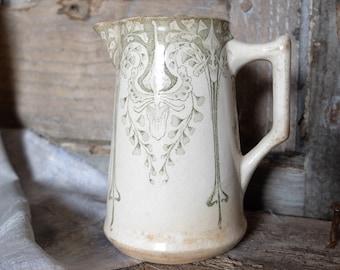 Rare french Pitcher-Milk-Cream. CREIL MONTEREAU -Very Old  LABRADOR