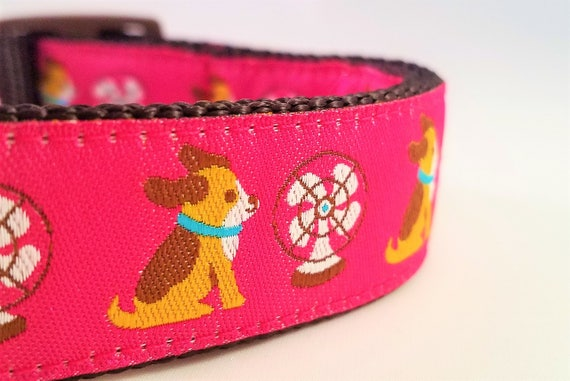 Your Biggest Fan - Dog Collar / Adjustable / Dogs / Beagle / Martingale / Pink / Large Dog Collar / Chill / Cool Dog / Hot Dog / Dog Collars