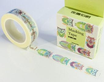 Washi tape (washi) OWL bullet journal / scrapbooking