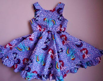 My Little Pony Dress, My Little Pony Birthday Outfit, Sparkle Twilight Birthday Outfit, MLP Birthday Dress, Twilight Sparkle Dress