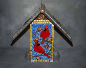 Order your Bird Feeder, Stained Glass Mosaic
