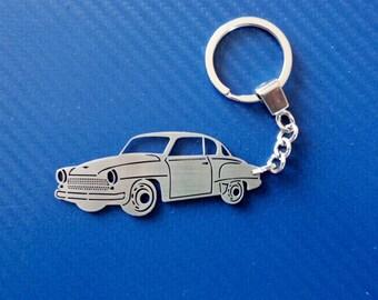 Wartburg 311 Coupe Key chain, Personalized Key Chain, Retro Car Keychain, Custom Keychain, Stainless Steel Keyring, Personalized Gift