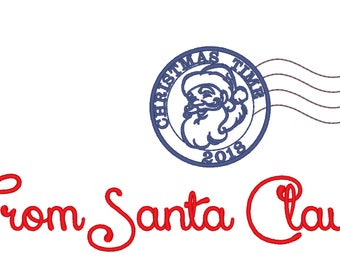 Santa mail express Christmas sack stamp machine embroidery designs assorted sizes - instant download Christmas stocking