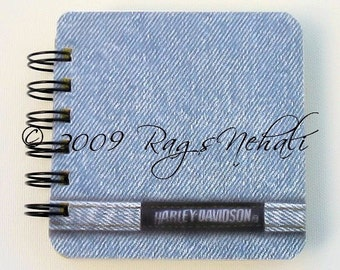 Harley Davidson Motorcycle Bikes Biker - Post It Note Holder Planner - Perfect Valentine gift for Him - Man \/ Boy in your life