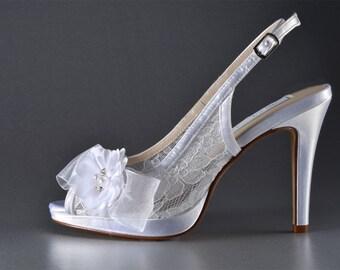 Wedding Shoes - Slingback Wedding Shoes- Women's Slingback Bridal Shoe, Shoes Women's wedding, Ladies Wedding Shoes, Wedding Shoes, Shoes