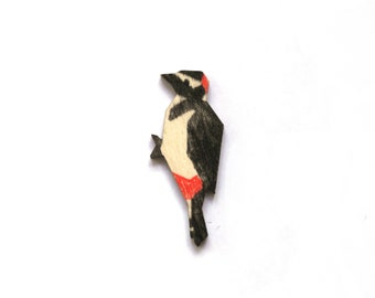 Great spotted woodpecker pin