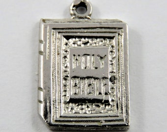 Holy Bible Sterling Silver Charm or Pendant.