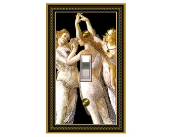 0732x - Medieval The 3 Graces - mrs butler switch plate covers - choose sizes / prices from drop down box