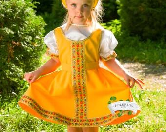 """Traditional russian dress for girl """"Elena"""", Girl dance dress, Sarafan, Folk scenic dress, Knee-lenght girl dress"""