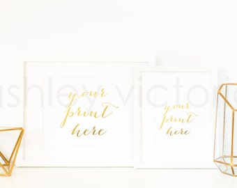 SET of 4 // Styled White Frame Photos // Digital Download