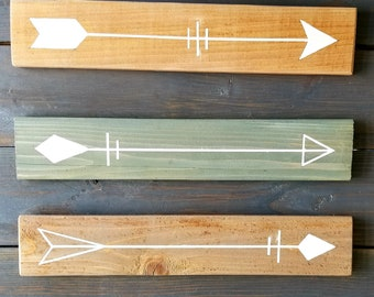 Reclaimed Wood Arrow Paintings