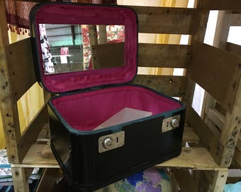 Redesigned Black and Pink Train Case