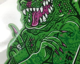 Geisha Godzilla Pin-Up  - Full Color Godzilla Monster Vinyl Sticker Decal