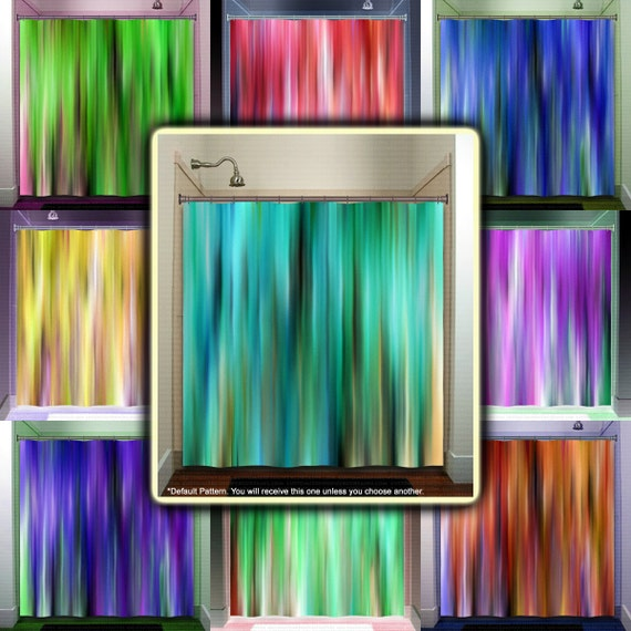 teal striped shower curtain. brown aqua teal turquoise stripes shower curtain  extra long fabric window panel kids bathroom decor custom valance bathmat personalize