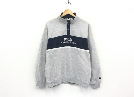 Fila crewneck sweatshirt medium print spell out logo pullover / biela italia / fashion style/ small large size / streetwear / urban fashion IIeXzW