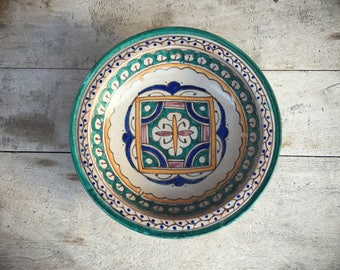 Guatemalan Pottery Bowl Wall Hanging, Rustic Home Decor, Bohemian Decor, Decorative Plates, Ceramic Wall Decor, Gallery Wall Decor, Jungalow