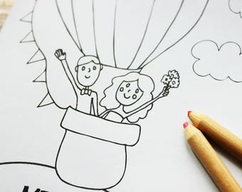 Kids Wedding Favor Wedding Favor for Kids Wedding coloring book Wedding coloring pages Wedding activity book Instant Download Coloring Pages