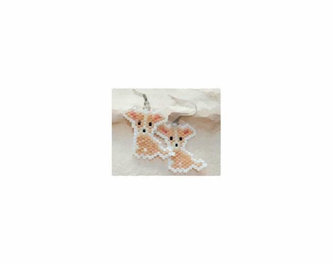 Chihuahua Dog Brick Stitch Bead PATTERN | DIGITAL DOWNLOAD