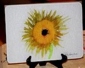 Glass Cutting Board - Sunflower - 7.75 in  x 10.75 in