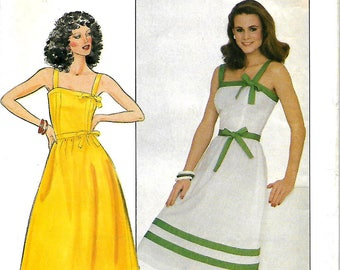 Butterick 4330 Misses Fitted And Flared Sundress Sewing Pattern, Size 12, UNCUT