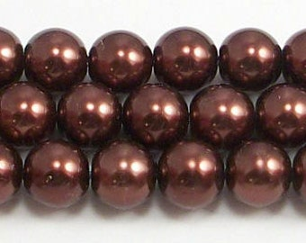 8mm Brown Glass Pearls Trial Size Packs
