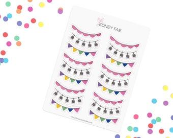 Garland Mix Stickerset-watercolor sticker-pretty planning-scrapbooking-bullet journaling