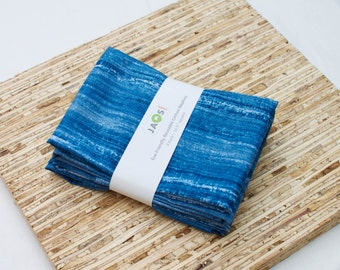 Large Cloth Napkins - Set of 4 - (N2936) - Blue Modern Reusable Fabric Napkins