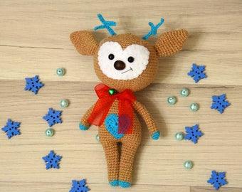 Deer amigurumi, Crochet Deer, Amigurumi Deer plush, Deer crochet,  Stuffed Deer toy, Chrismas deer
