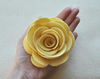 4 Piece Die Cut Wool Blend Felt DIY 3D Roses, Felt Rose, EXTRA Large size