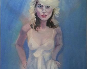Debbie Harry of Blondie original oil painting
