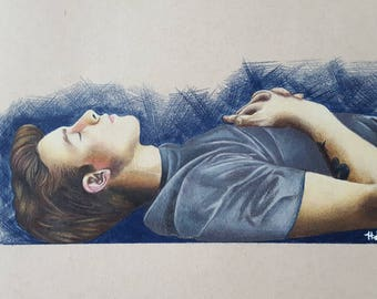 Shawn Colored Pencil Drawing