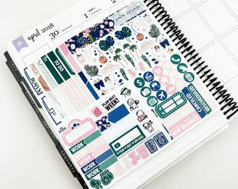 Palm Springs // Ultimate Weekly Planner Kit (Glossy Planner Stickers)