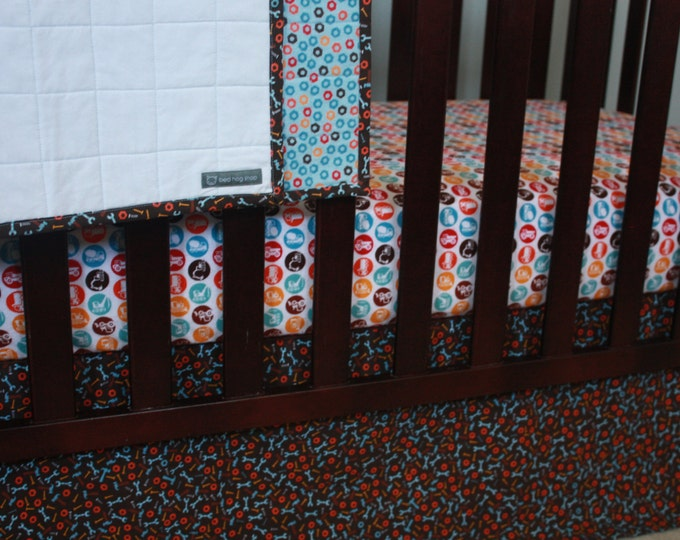 Construction Baby Bedding/Builder Baby Flannel Crib Sheet