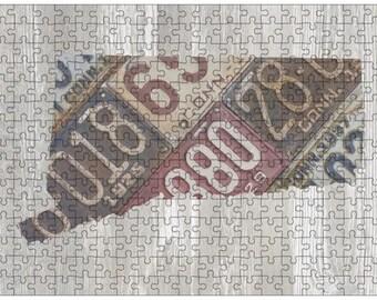 Connecticut Jigsaw Puzzle   Vintage License Plate Art   State Outline   Fun Puzzle