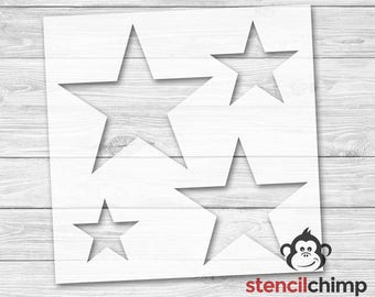 DIY Art Stencil - Star Stencils (Stencil contains 4 stars in various sizes!)