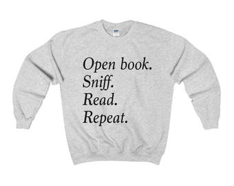 Book Lover Sweatshirt Book Sweatshirt Cozy Sweatshirt Book Lover Gift Literary Reading Bookworm Book Shirt Book Hoodie Valentine's Day gift
