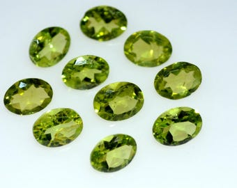 3x5 Natural peridot faceted oval gemstone-AAA quality