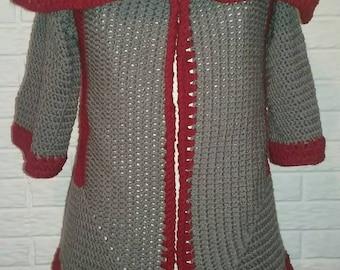Pentagon Crochet Sweater Pattern Two ways wear, Cardigan Crochet Pattern