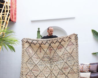 RESERVED FOR A.P   Beautiful vintage Beni Ourain rug 155x245cm / 5x8feet